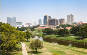 Fort Worth city view